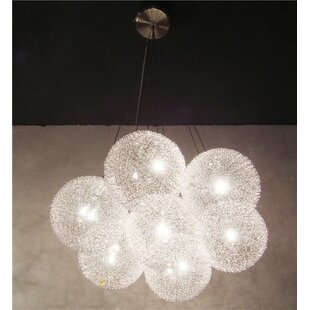 Shetler Metal 7-Light Cluster Pendant by Brayden Studio