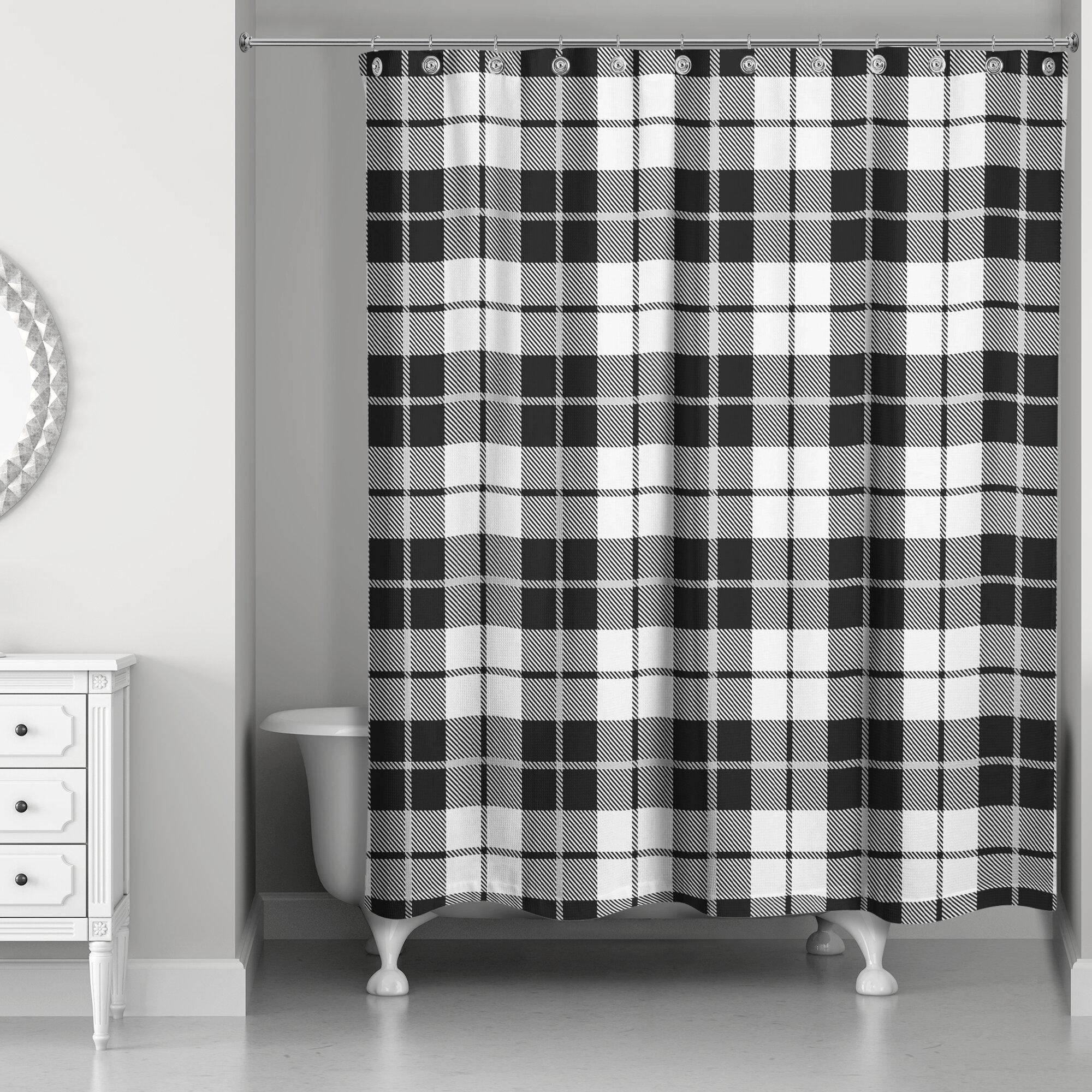 Gracie Oaks Driffield Single Shower Curtain Wayfair