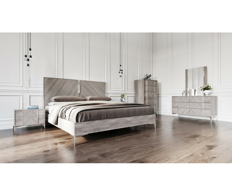 Laard Modern 5 Piece Platform Bedroom Set