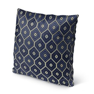 Honey Comb Accent Cotton Throw Pillow