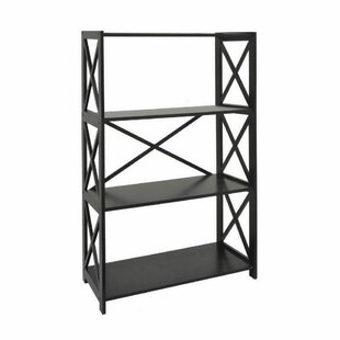 August Grove Mertens Wood Etagere Bookcase