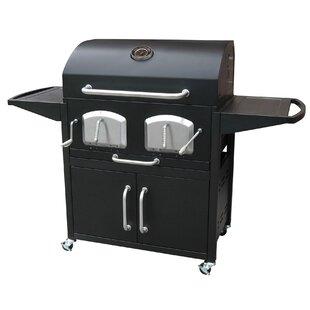 Bravo Premium Barrel Charcoal Grill with Cabinet