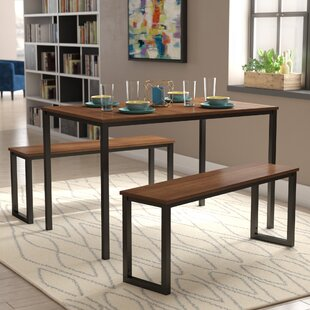 Walser 3 Piece Dining Table Set by Wrought Studio