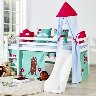 Basic Mid Sleeper Bed With Textile Set By Hoppekids