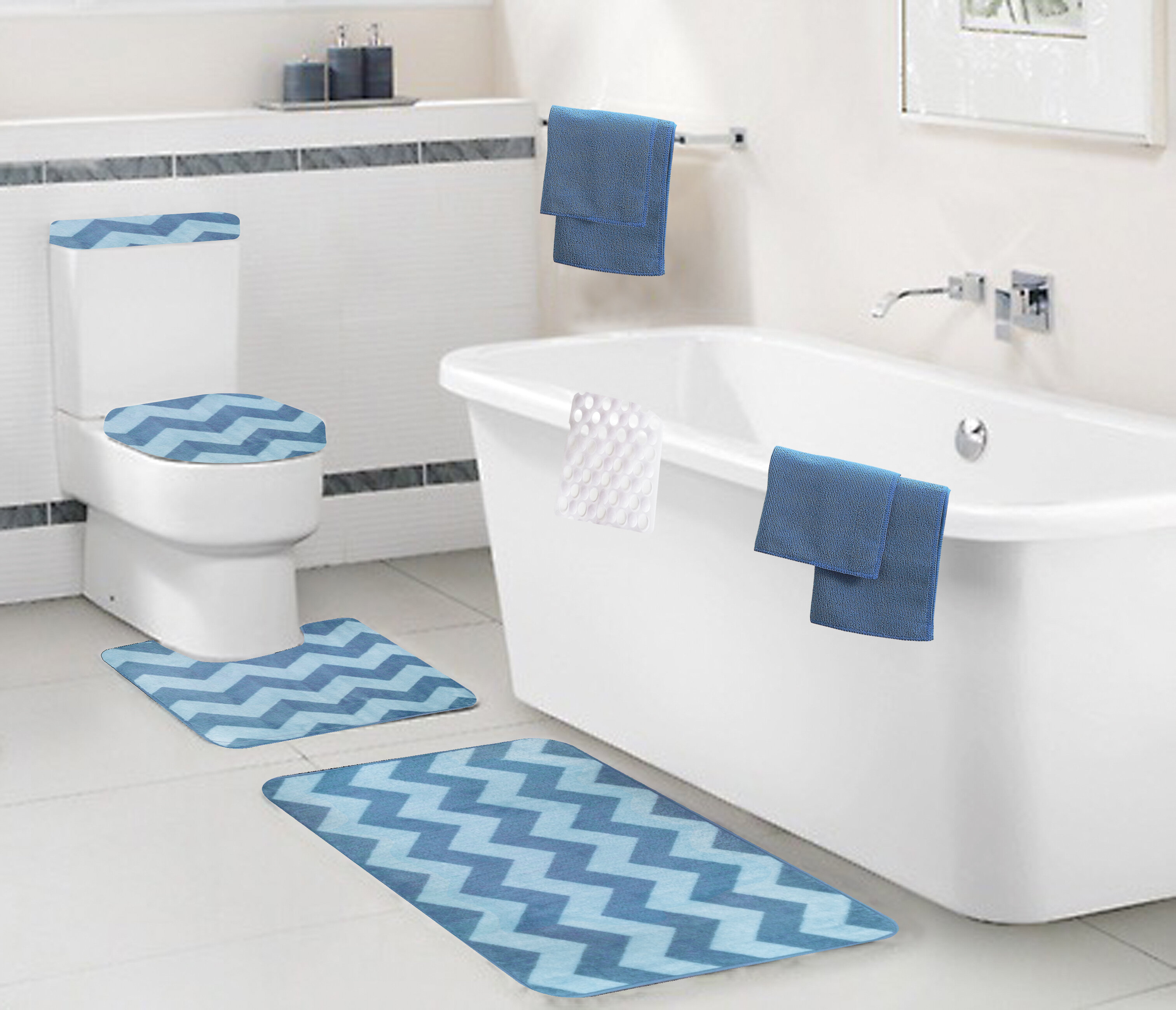 Laude Run Bohan 9 Piece Bath Set