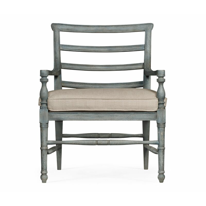 Jonathan Charles Fine Furniture William Yeoward Country House Chic Solid Wood Ladder Back Arm Chair In Ocean Wash Wayfair