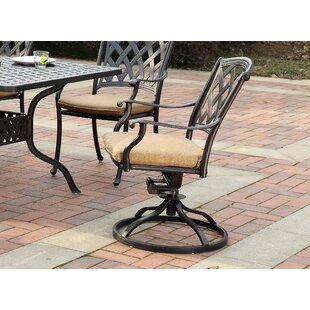 Campton Swivel Patio Rocking Chair with Cushions (Set of 4) by Fleur De Lis Living