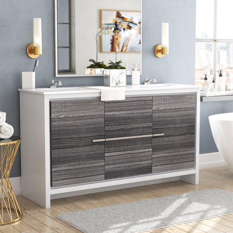 Bosley 59 Double Bathroom Vanity Set