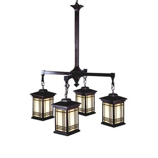Millwood Pines Shane Tiffany 4-Light Lantern Pendant