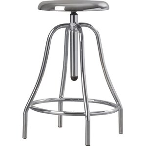 Lisson Adjustable Height Swivel Bar Stool by Williston Forge