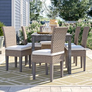 Rockport Patio Dining Chair with Cushion (Set of 6)