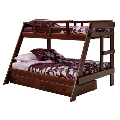 Twin over Full Bunk Bed with Storage Chelsea Home
