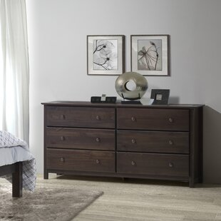 Shaker 6 Drawer Double Dresser