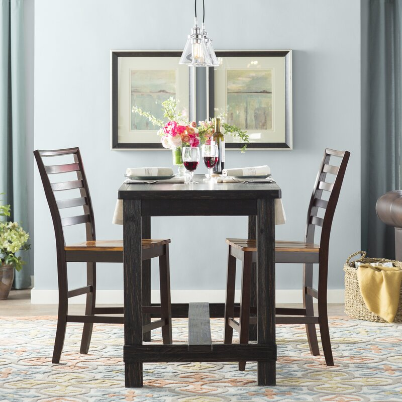 Ahner Counter Height Pub Table With 42 Inch High Pub Table Dining Set