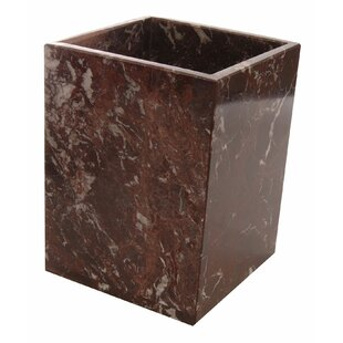 Rembrandt Home Polished Marble Waste Basket