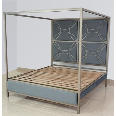 Everly Quinn Dreiling Upholstered Canopy Bed