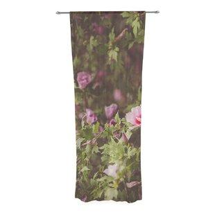 Ann Barnes Lush Decorative Nature Floral Sheer Rod Pocket Curtain Panels Set Of 2