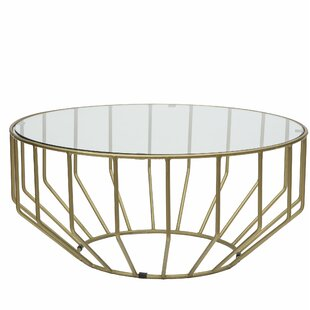 Wrought Studio Burden Gold Leaf Coffee Table