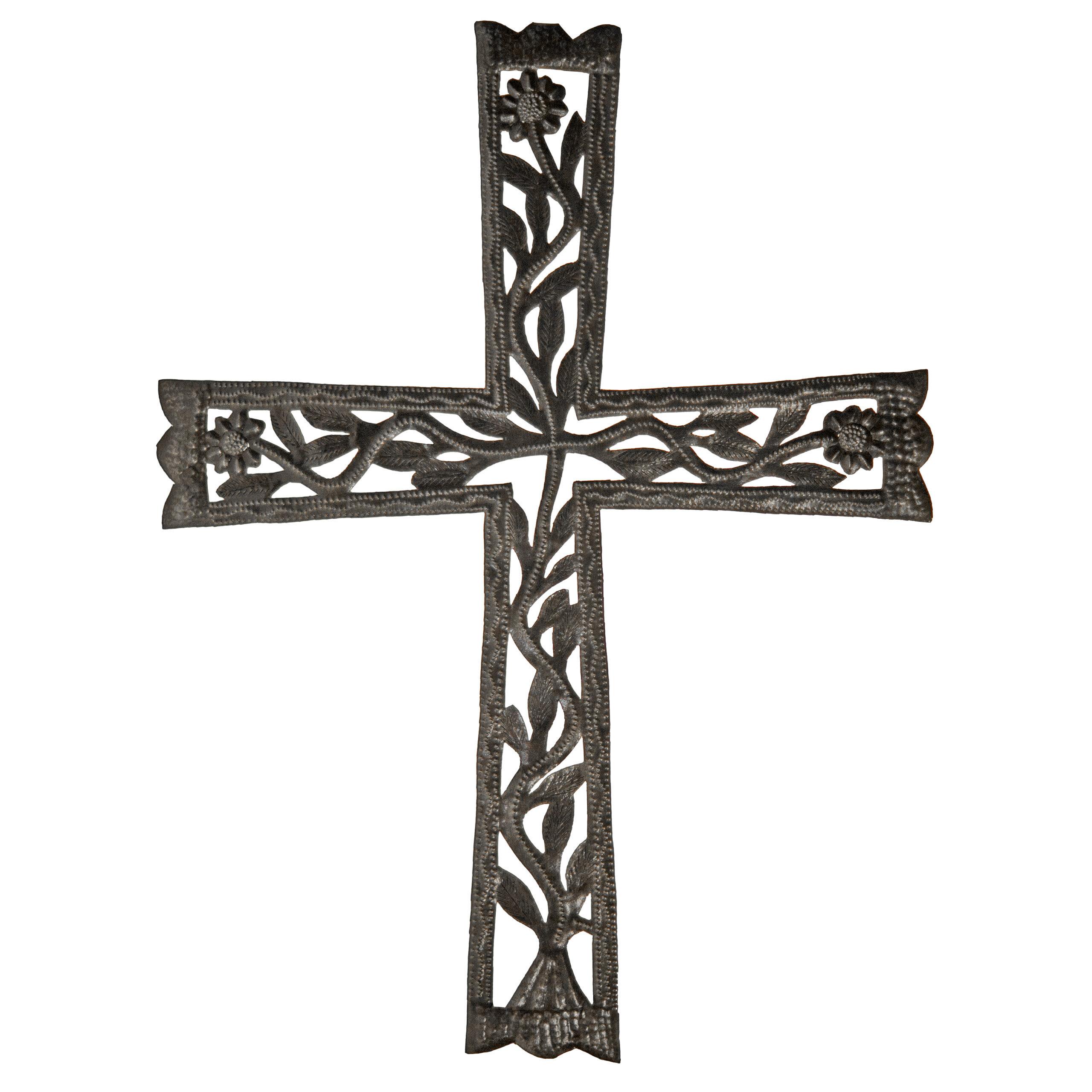 Fleur De Lis Living Open Vine Cross