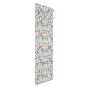 Damask Linen Ornament Wall Mounted Coat Rack By Symple Stuff