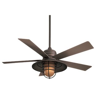 Purchase 54 RainMan 5 Blade Outdoor LED Ceiling Fan By Minka Aire