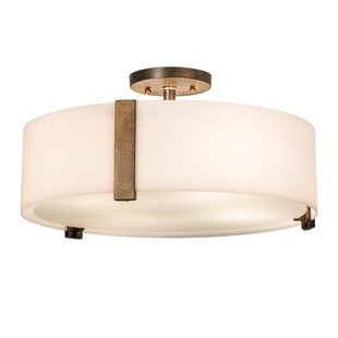 Meyda Tiffany Cilindro 4-Light Semi-Flush Mount