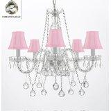 Girls Bedroom Pink Chandelier | Wayfair