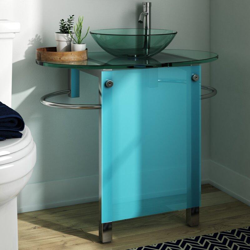 Juywan 30 Single Pedestal Bathroom Vanity Set