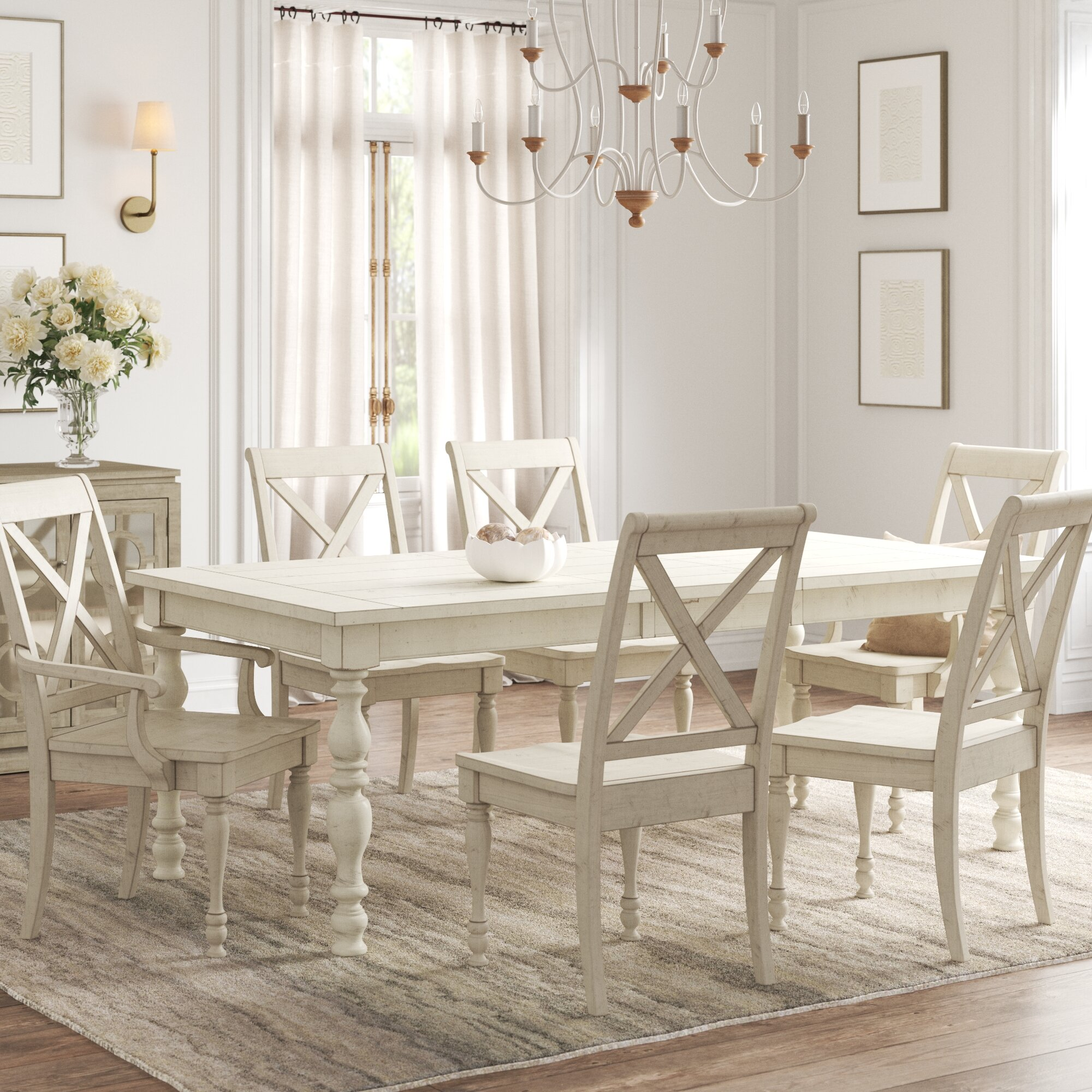 Kelly Clarkson Home Eminence 7 Piece Extendable Dining Set Reviews Wayfair