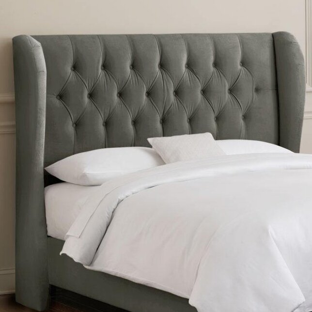 Sainte Chapelle Tufted Velvet Upholstered Headboard