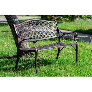 Huang Lattice Metal Garden Bench