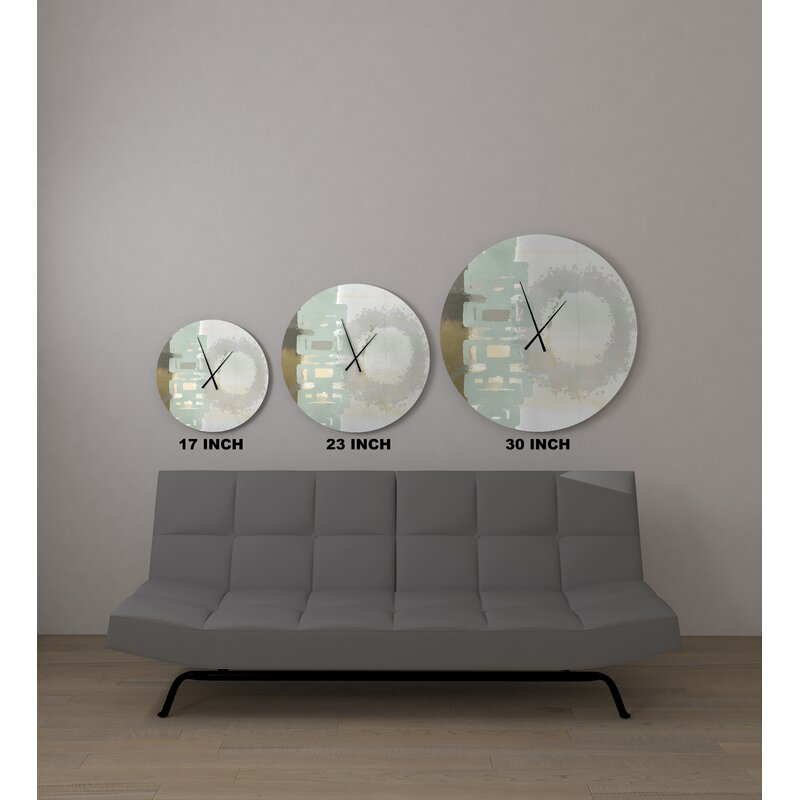Ebern Designs Guiltless Resounding Abstract Metal Wall Clock Wayfair