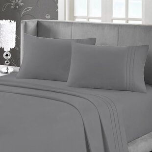 Affordable Price Cotten Comfort Embroidered Solid Sheet Set ByCharlton Home