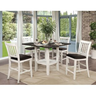 Jadyn 5 Piece Counter Height Drop Leaf Dining Set