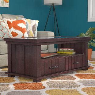 Carleton Transitional Coffee Table with Magazine Rack