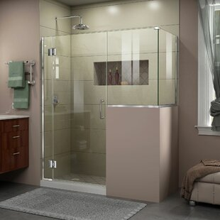 DreamLine Unidoor-X 58 in. W x 36 3/8 in. D x 72 in. H Frameless Hinged Shower Enclosure