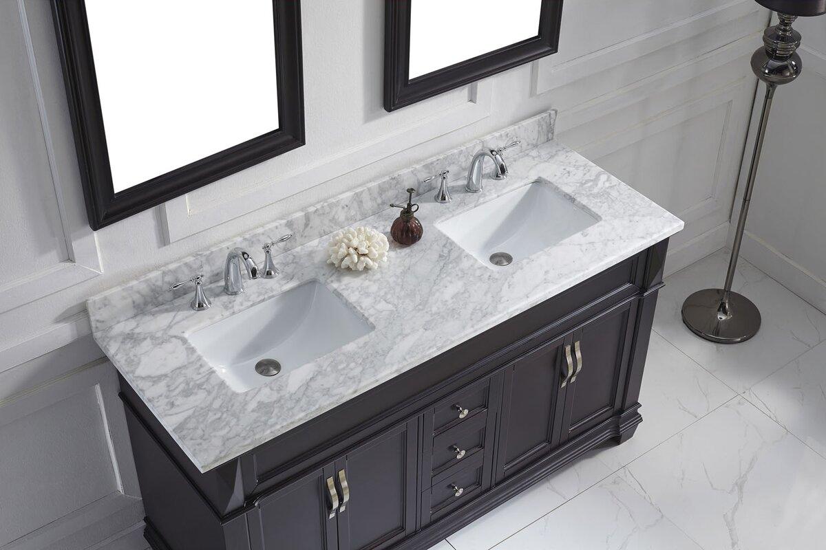 Bathroom vanities boca raton fl - Victoria 61 Double Bathroom Vanity Set With Mirror