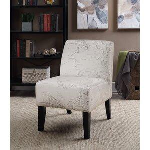 Ardane Printed Script Slipper Chair by..