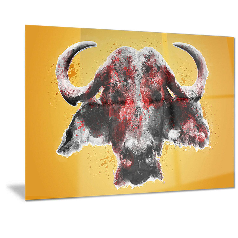 DesignArt Metal \'Angry Bull\' Graphic Art   Wayfair