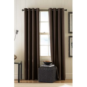 Damiansville Solid Semi-Sheer Grommet Single Curtain Panel