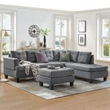 Borgwald 99.17 Right Hand Facing Sofa & Chaise with Ottoman by Latitude Run®