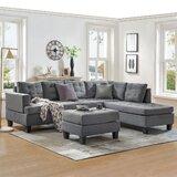 Dalano 104.92 Right Hand Facing Sofa & Chaise with Ottoman by Latitude Run®