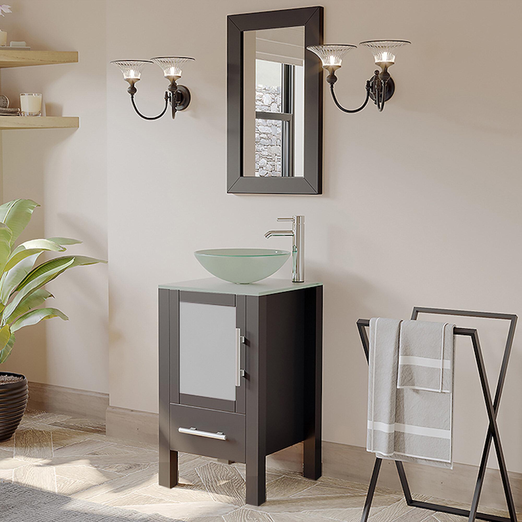 Latitude Run Secrest 18 Single Bathroom Vanity Set With Mirror Reviews Wayfair