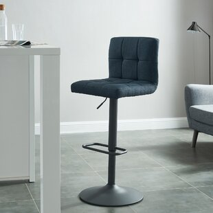 Glen Adjustable Height Swivel Bar Stool (Set of 2)