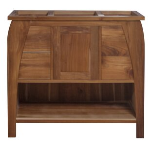 Tranquility Solid Teak 36 Single Bathroom Vanity Base by EcoDecors
