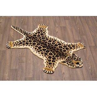 Compare & Buy Hidden Hills Leopard Skin Shape Hand Woven Brown/Black Area Rug ByZoomie Kids