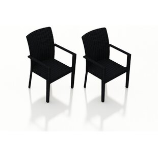 Azariah Patio Dining Chair (Set Of 2) by Orren Ellis New