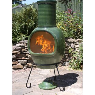 Charcoal/Wood Burning Chiminea By Gardeco