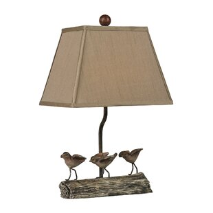 Table lamps with birds wayfair desmond little birds on log 18 table lamp aloadofball Image collections