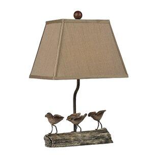 Desmond Little Birds on Log 18 Table Lamp